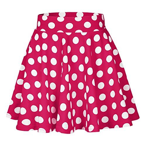 Urban CoCo Women's Basic Versatile Stretchy Flared Casual Mini Skater Skirt (XL, 11)