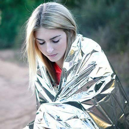Shoppy Shop Outdoor emergency blanket 210 * 130cm Polarshield survival lightweight rescue thermal film