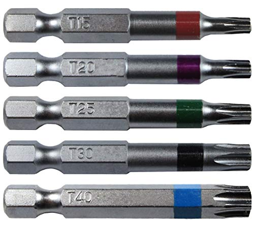 Torx/Star Drive 5 Piece Bit Set 2