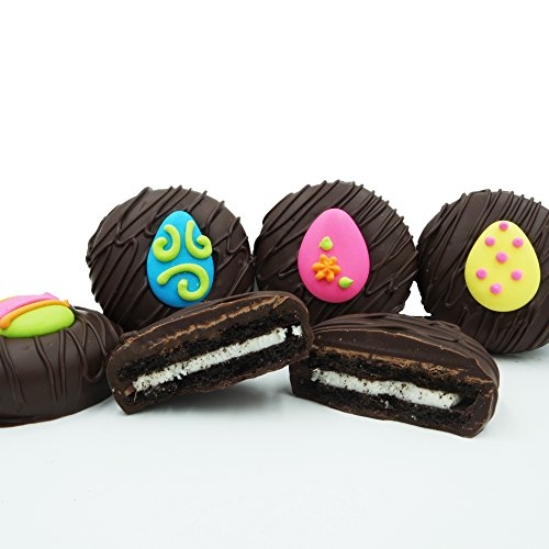 Philadelphia Candies Dark Chocolate Covered OREO Cookies, Easter Egg Assortment 8 Ounce - Green Chocolate Covered Gift Box