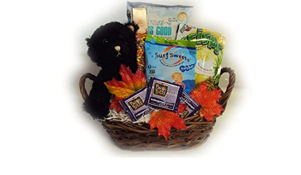 Halloween Gift Basket Ideas For Adults.Amazon Com Healthy Halloween Gift Basket By Well Baskets Gourmet