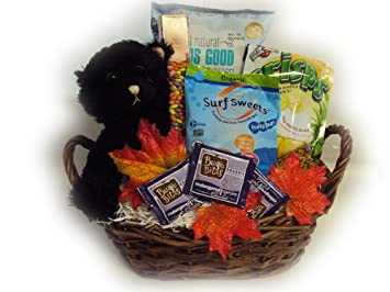 Amazon.com : Healthy Halloween Gift Basket by Well Baskets ...