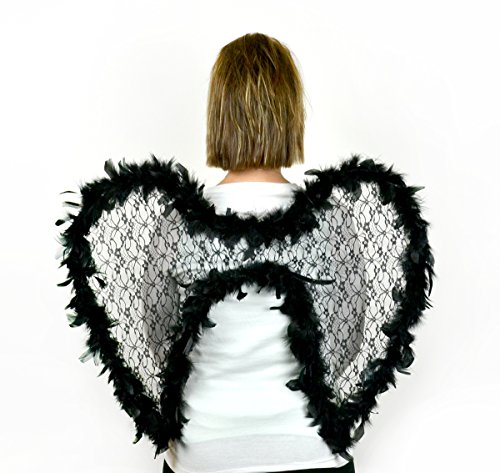 Costume Design Outline (Touch of Nature 10115 Touch of Nature (Toudl) Touch of Nature black Lace Feather Wing 21 X 23