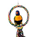 RYPET Bird Swing - Wooden Conure Toys Bird Cage