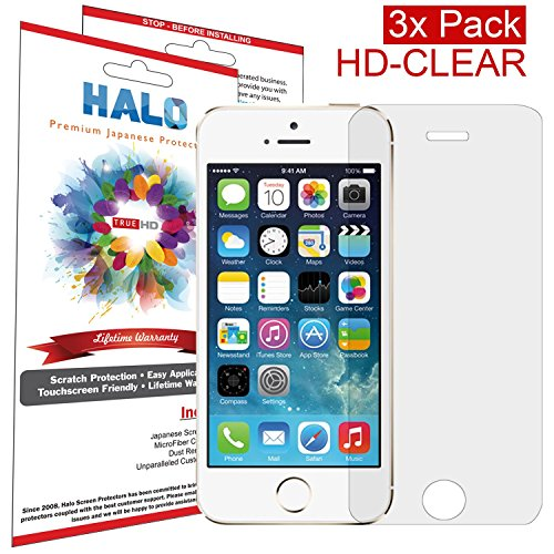 Halo Screen Protector Film HD Clear for iPhone 5S / 5C / 5