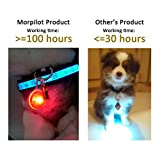 Morpilot 6Pcs Clip-On Dog & Cat Collar LED Lights, Waterproof Safety Night Walking Lights for Pet, Battery Included 6 Extra Replacement Batteries