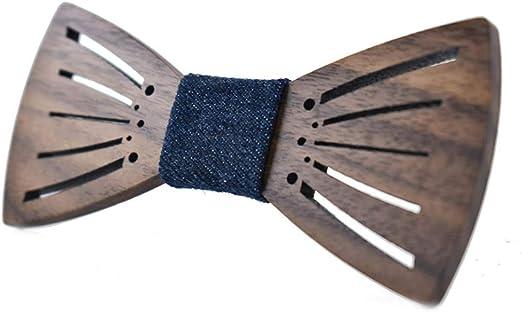 Pajarita de madera para hombre Madera natural ahueca hacia fuera ...