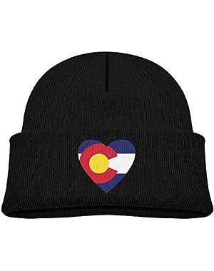Cute Colorado-Flag Printed Baby Boy Girls Winter Hat Beanie