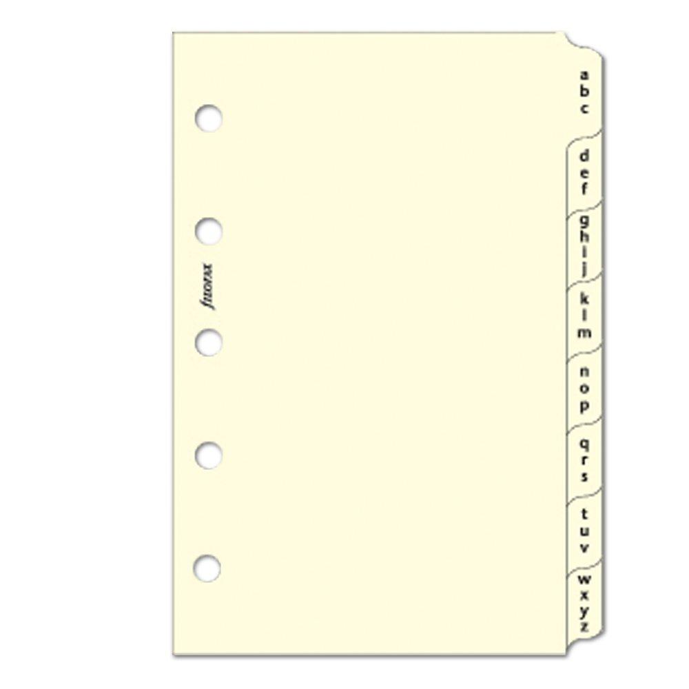 Filofax - Mini separadores para archivador (A-Z, 3 letras ...