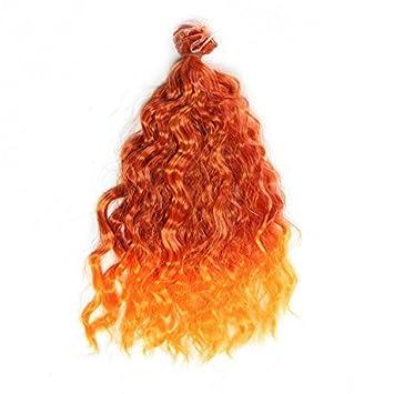 25 cm * 100 cm DIY alambre naranja amarillo de alta temperatura lana rollo de pelo