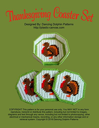(Thanksgiving Coaster Set: Plastic Canvas Pattern)