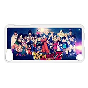 Japanese anime tv series DBZ,Dragon Ball Z,Son Goku Personalized IPod Touch 5/5G/5th Generation Hard Plastic Shell Case Cover White&Black(HD image)