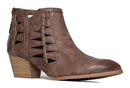 Spats Saddle Shoe (Qupid Angular Cut Out Bootie)