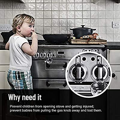 Eudemon 6 Pack Safety Children Kitchen Stove Gas Knob Covers & 12 Pack US Type Socket Plug Covers