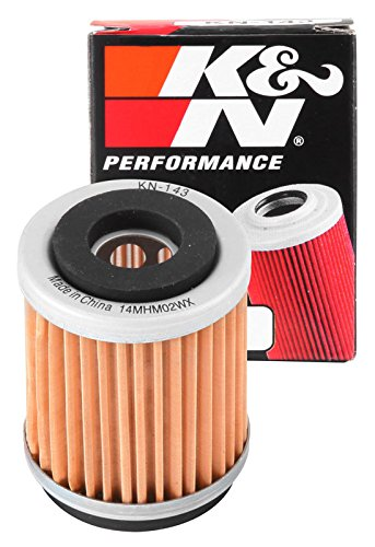 KN-143 K&N Performance Oil Filter; POWERSPORTS CARTRIDGE (Powersports Oil Filters):