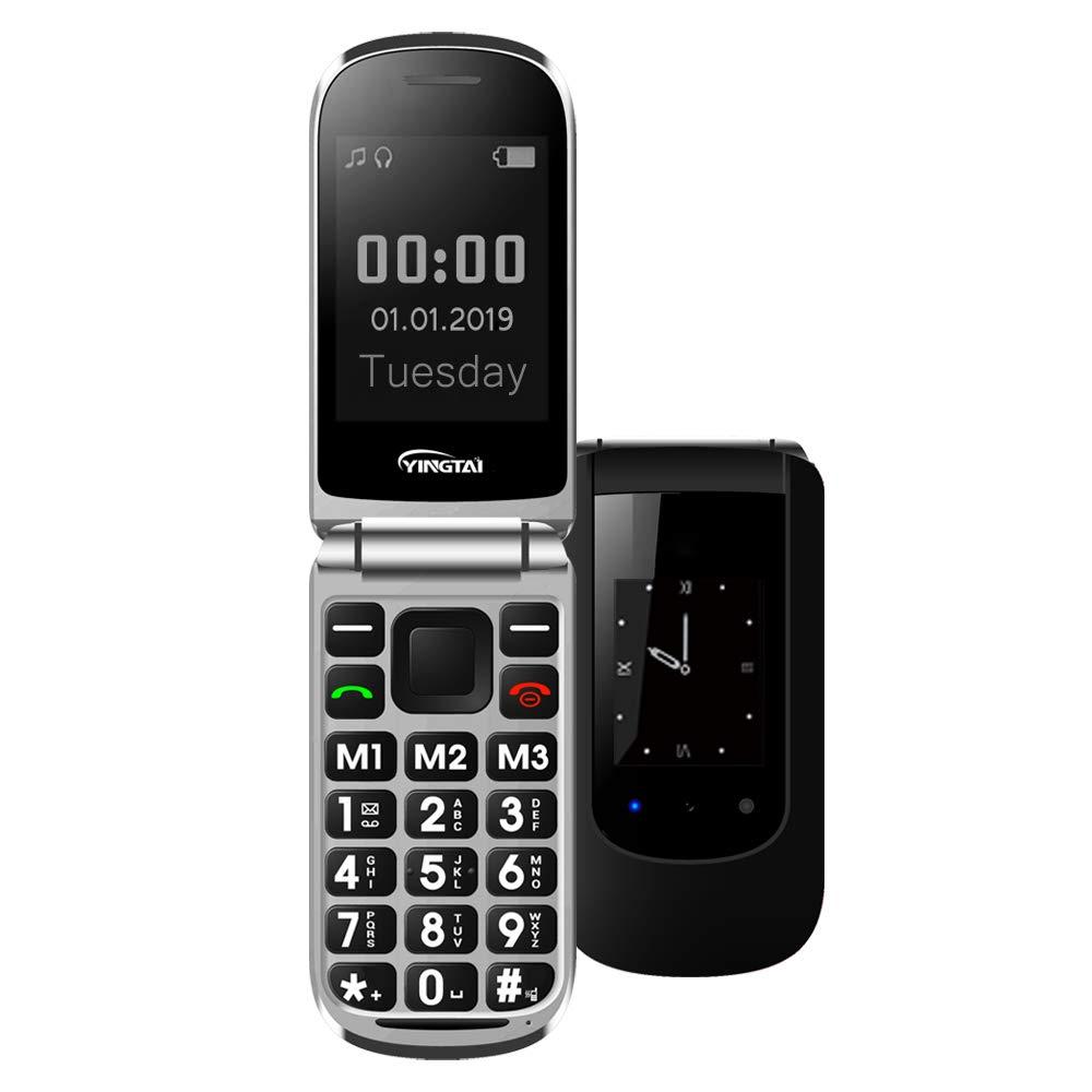 YINGTAI T09 Teléfono Móvil de Tapa con Teclas Grandes para...