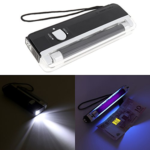 OriGlam Portable Handheld UV Black Light Torch, Blacklight UV Light Money Bill Detector Currency Banknote Checker Cash Security (Blacklight Handheld)