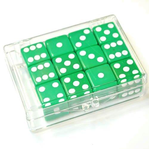 【格安saleスタート】 Set of 12 Green B0042R3810 Opaque 12 dice in Acrylic Box Box - White dots B0042R3810, 揖斐川町:a2cb617c --- efichas.com.br