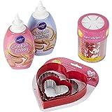 #7: Wilton 2104-5938 Valentine Cookie Making Bundle, 4-Pieces