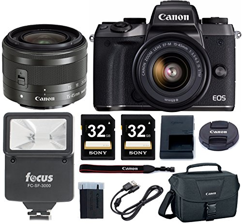 Canon-EOS-M5-Mirrorless-Camera-w-15-45mm-Lens-64GB-Deluxe-Accessory-Bundle