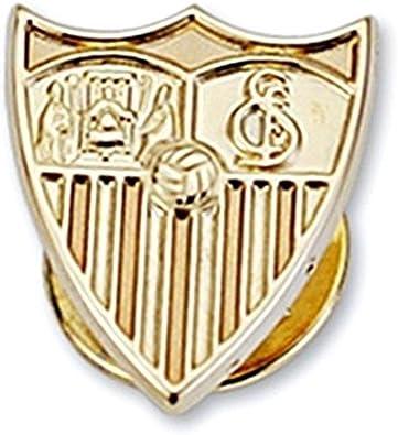 Pin escudo Sevilla FC oro de ley 9k 16mm. liso [8695] - Modelo ...