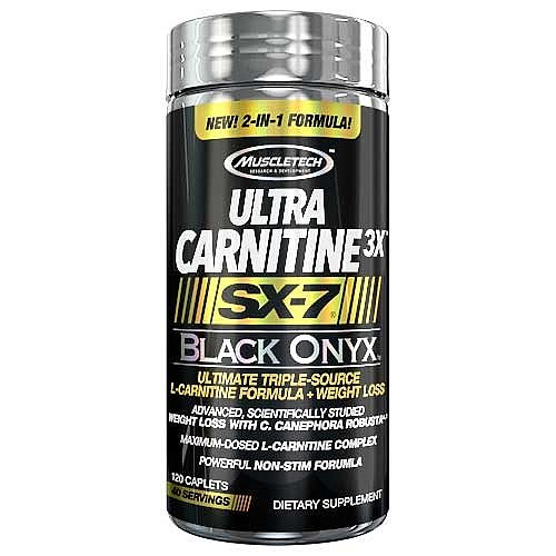 MuscleTech Ultra Carnitine 3X SX-7 Black Onyx 120 Caplets