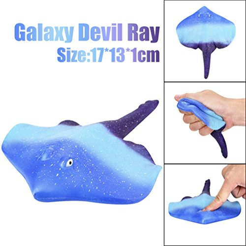 Jumbo Slow Rising Squeeze Stress Relief Toys, Staron 17cm Cartoon Galaxy Devil Ray Cream Scented Squishy Slow Rising Phone Charm Gift Kids Adults Squeeze Relaxing Toys - Clothing Rays 8