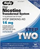 Rugby Clear Nicotine Transdermal System Step 2 ~ 14mg ~ 14 patches *Compare to Habitrol *