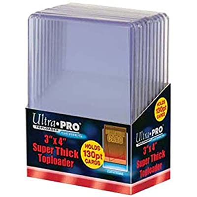 2 Ultra Pro 130pt Top Loaders 20 Total (2 10ct Packs) Fits cards up to 130 Point Thick : Sports & Outdoors