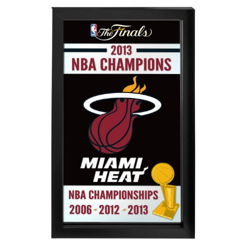 NBA Miami Heat 2013 NBA Champions Framed Logo Mirror Eating Framed