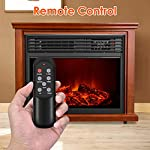 Electric Fireplace Heater with Remote - 1500W Infrared Heater with 3D Flames Effect, 800 Sq Ft Coverage, Space Heater with Thermostat, Fast Heating, No Noise, Safety Protection, Brightness Adjustable from Air Choice