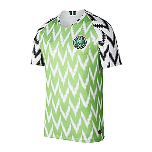 2018 New Season Nigeria Home Soccer Jersey National Jersey White/Green (S)