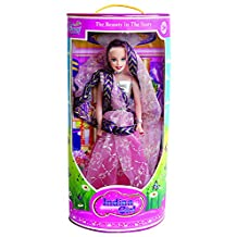 Lovely Toys Cute Girl Indian Kids Playing Barbie Doll