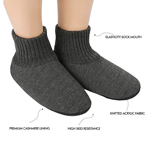 Thick Cozy House 9 Bros dark Bottom with Anti Shoes Slipper gray 7 Boot Soles Skid Indoor Soft Men's Sock 5 Socks for Panda XqUYw4xIFw