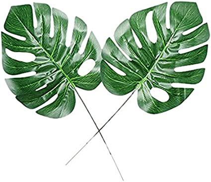 Amazon Com Zxsweet Fake Faux Artificial Tropical Palm Leaves For Home Kitchen Party Decorations Or Handcrafts 18 Counts Green Arts Crafts Sewing Watercolor green tropical plants turtle leaves canvas painting nordic wall art pop pictures haochu tropical forest flower leaves watercolor plant flamingo art poster print picture wall. zxsweet fake faux artificial tropical palm leaves for home kitchen party decorations or handcrafts 18 counts green