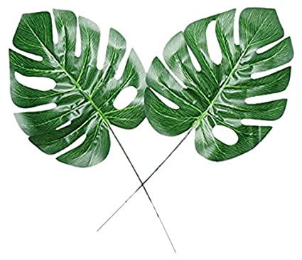 amazon com fake faux artificial tropical palm leaves for home