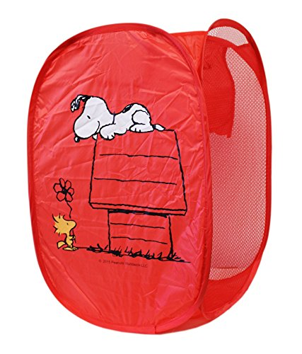 - Snoopy and Friends Red Colored Callapsible Hamper