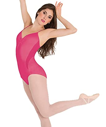 4dcfc4a24 Amazon.com: Body Wrappers womens Petite Floral Mesh Camisole Leotard  (P1120): Clothing