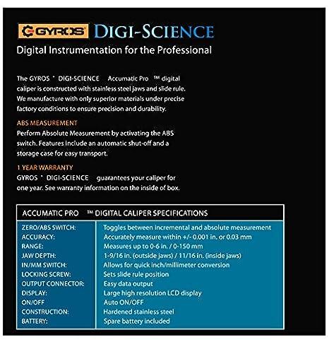 Amazon.com: Pinza electrónica digital Gyros DIGI ...
