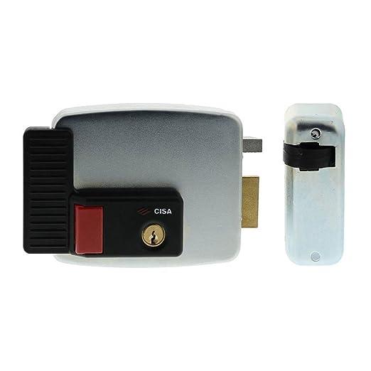 57 opinioni per Cisa 11731601 Elettroserratura da applicare con pulsante, 12 V, Zincato, Entrata