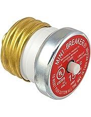 Bussmann BP/MB-15 15 Amp Edison Base Plug Fuse Circuit Breaker, 125V