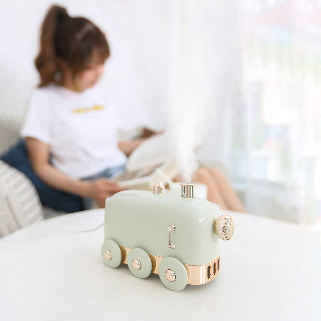 Ideal para casa beb/é Oficina FBGood Humidificador Dormitorio Difusor de 300 ml de Aceite Esencial de aromaterapy de difusor de Aire de USB Humidificador de Tren de Mini