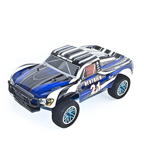ALEKO RCC94155BLUE Nitro Power Advanced Short Course Truck (1:10 Scale) - Nitro Rc Model Truck