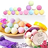 #9: Bath Bombs Gift Set, Mother's Day Gifts 18 Family Spa Vegan Lush Fizzies with Natural Essential Oils,3 Flower Pental Bags,Moisturize Dry Skin,Add to Bubble Bath,Basket,Bath Beads,Bath Pearls & Flakes