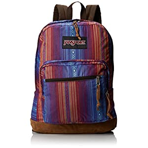 JanSport Right Pack World Backpack - Vivid Purple Acapulco Ombre Stripe / 18H x 13W x 8.5D