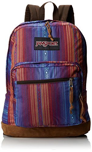 "JanSport Right Pack World Backpack - Vivid Purple Acapulco Ombre Stripe / 18""H x 13""W x 8.5D"