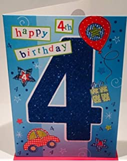 Happy 4th Birthday Card For A Boy