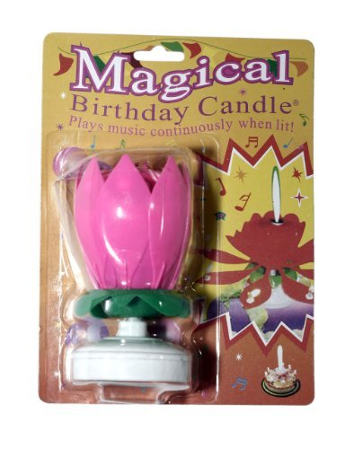 The Amazing Singing, Opening Flower Happy Birthday Candle, 5-Pack, Colors Vary R Ideas