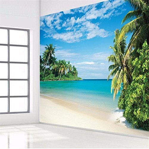 Sproud 蛍光蛋白質カエデの、高品質なココナッツグローブ島の風景青のシービューの壁画ベッドルーム 400 Cmx 280 Cm のソファベッドヘッドの肖像画 B074WX7G41 400cmX280cm 400cmX280cm