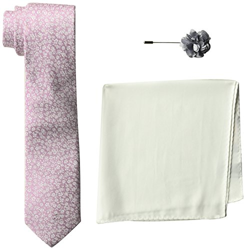 Ben Sherman Men's 100% Silk Tie With Pocket Square&Lapel Pin Box Set